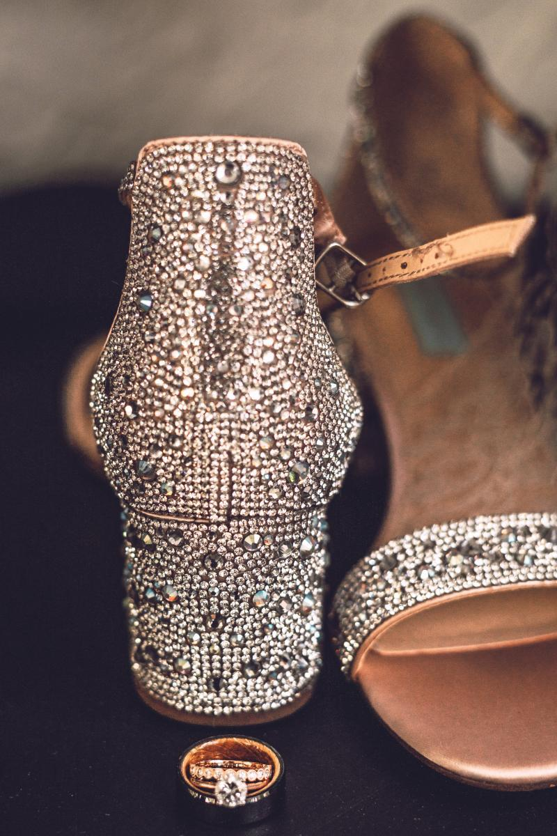 Sparkly wedding day shoes