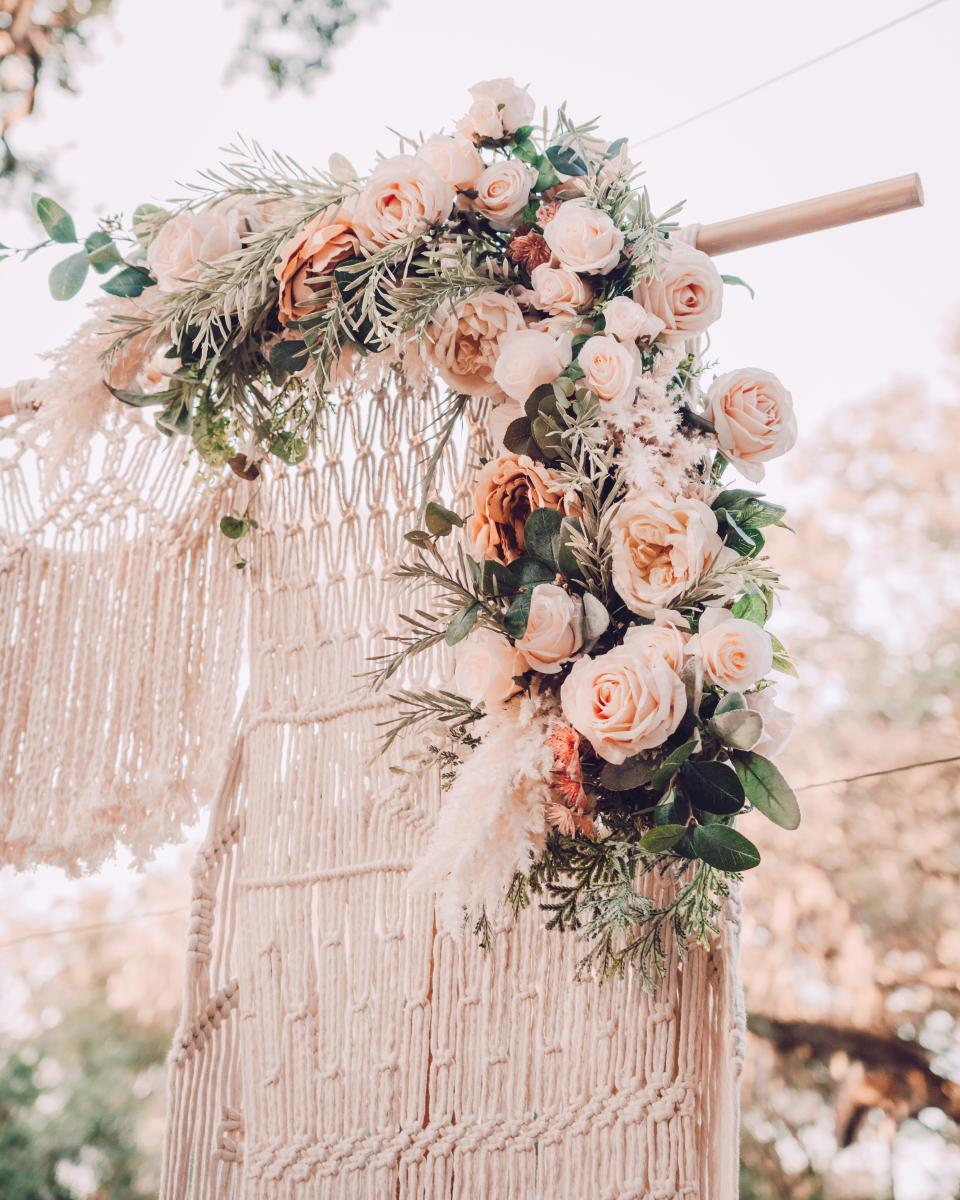 Boho chic wedding details