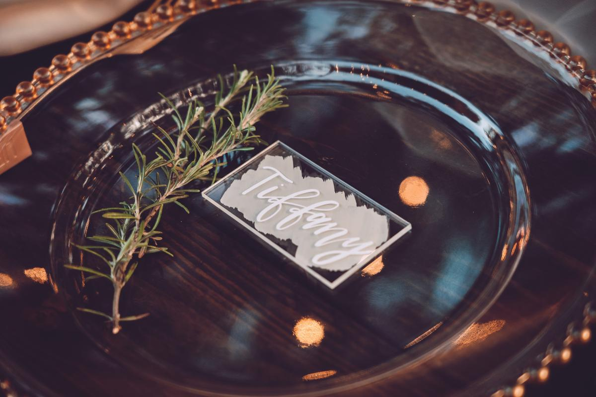Boho chic wedding place settings