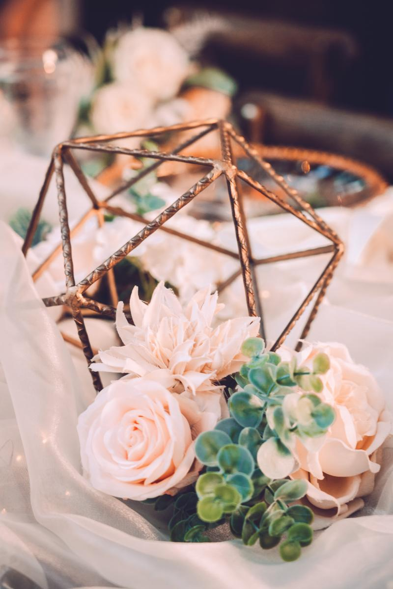 Boho chic wedding centerpieces
