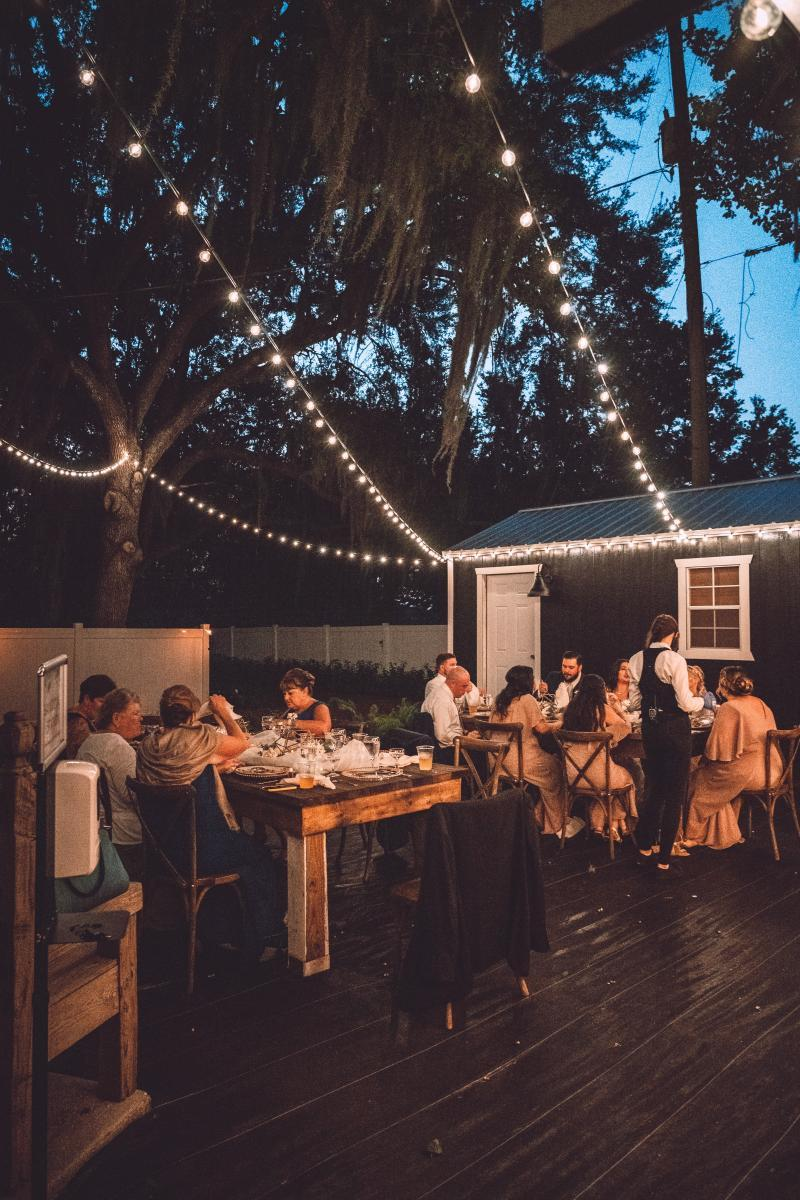 Wedding reception at the Garden Shed