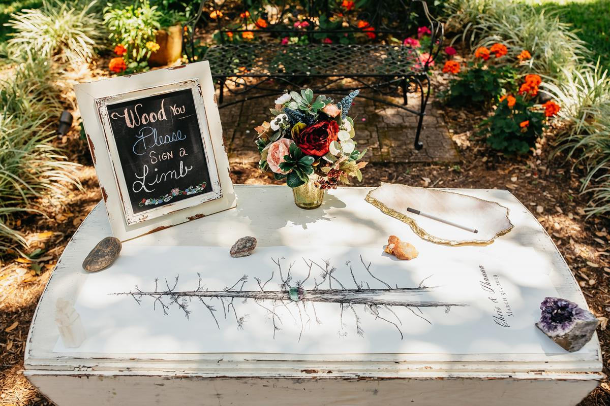 Whimsical forest wedding guest book