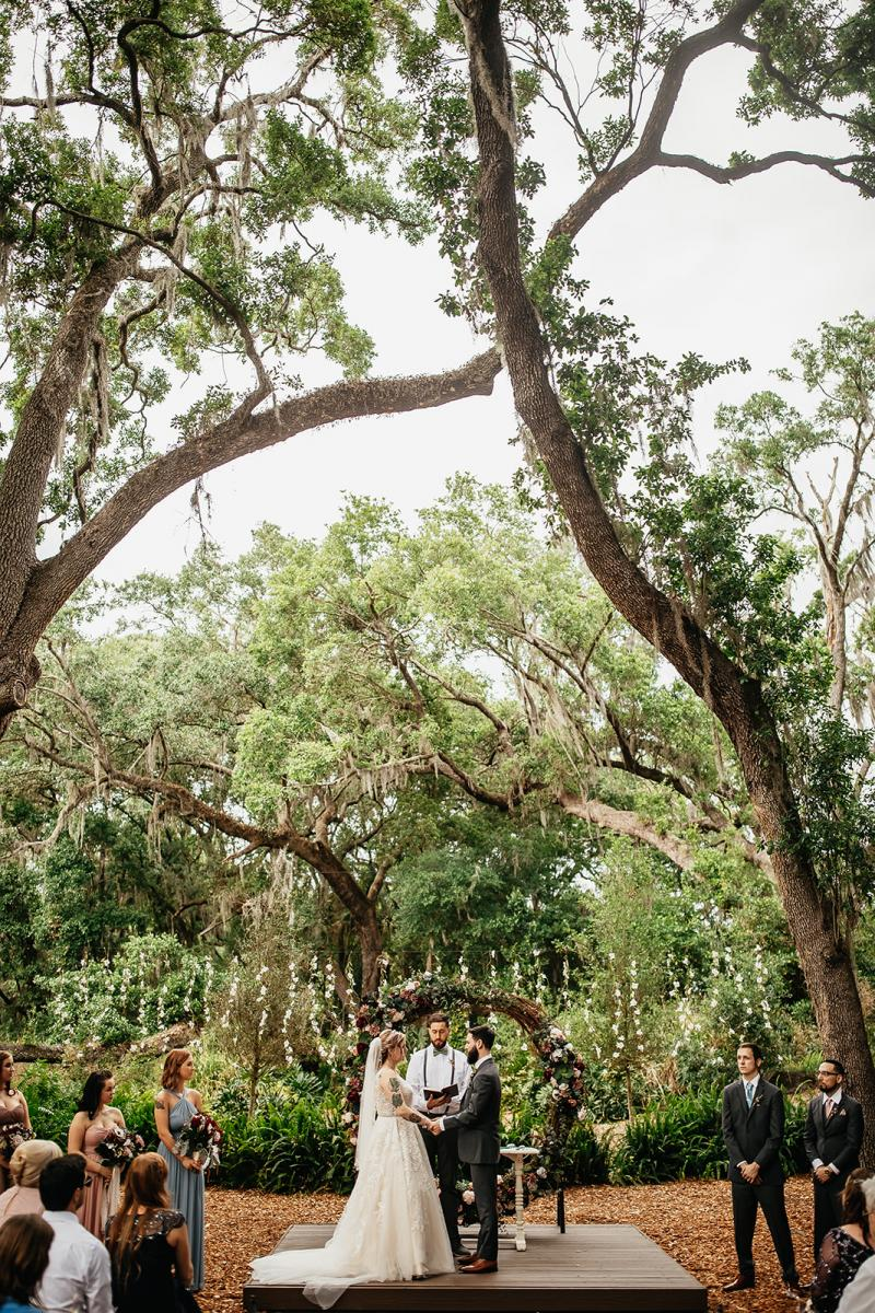 Whimsical forest wedding ceremony