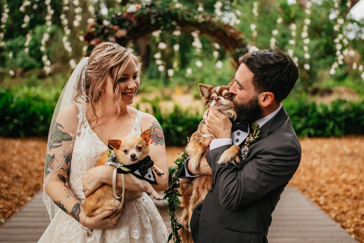 Shanna and Chris with their two dogs