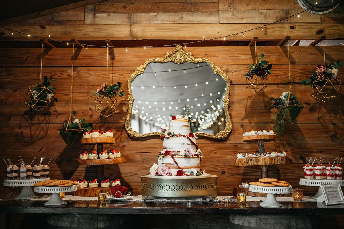 Whimsical and enchanting cake table