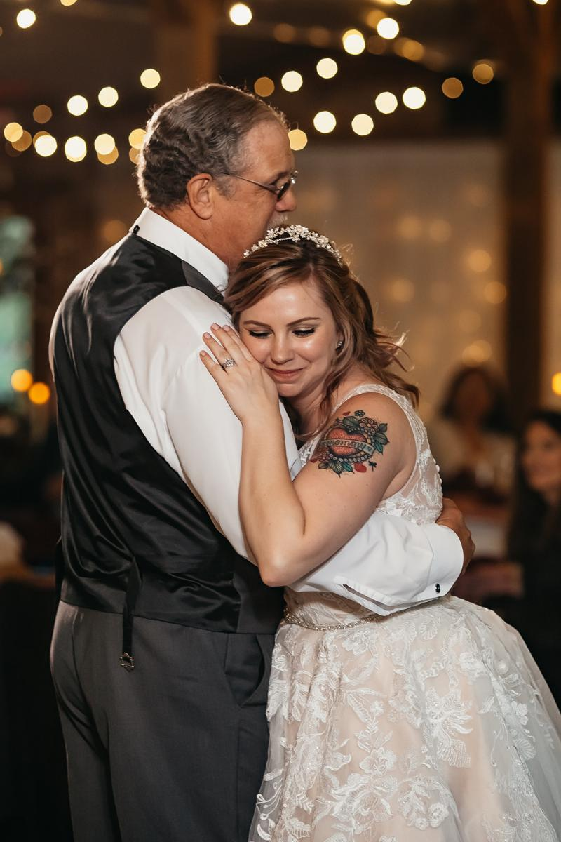 Shanna sharing a dance with Chris's father