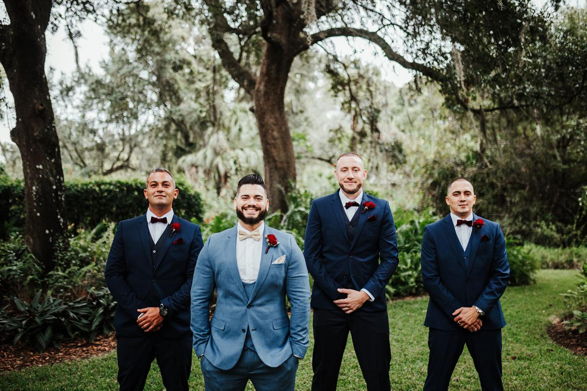 Carlos and his groomsmen