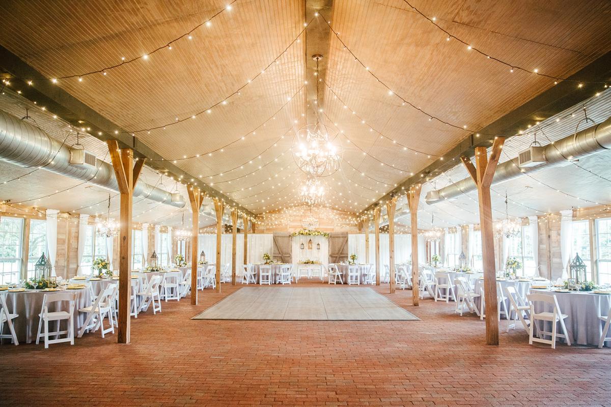 Bright and rustic wedding venue