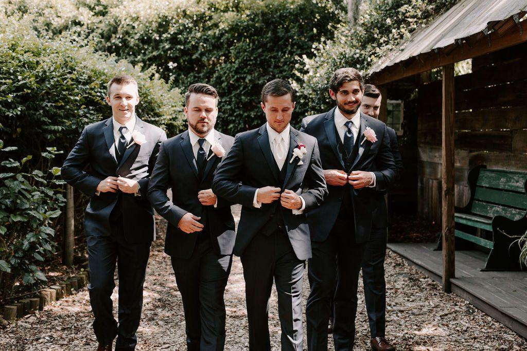 Benjamin and his groomsmen