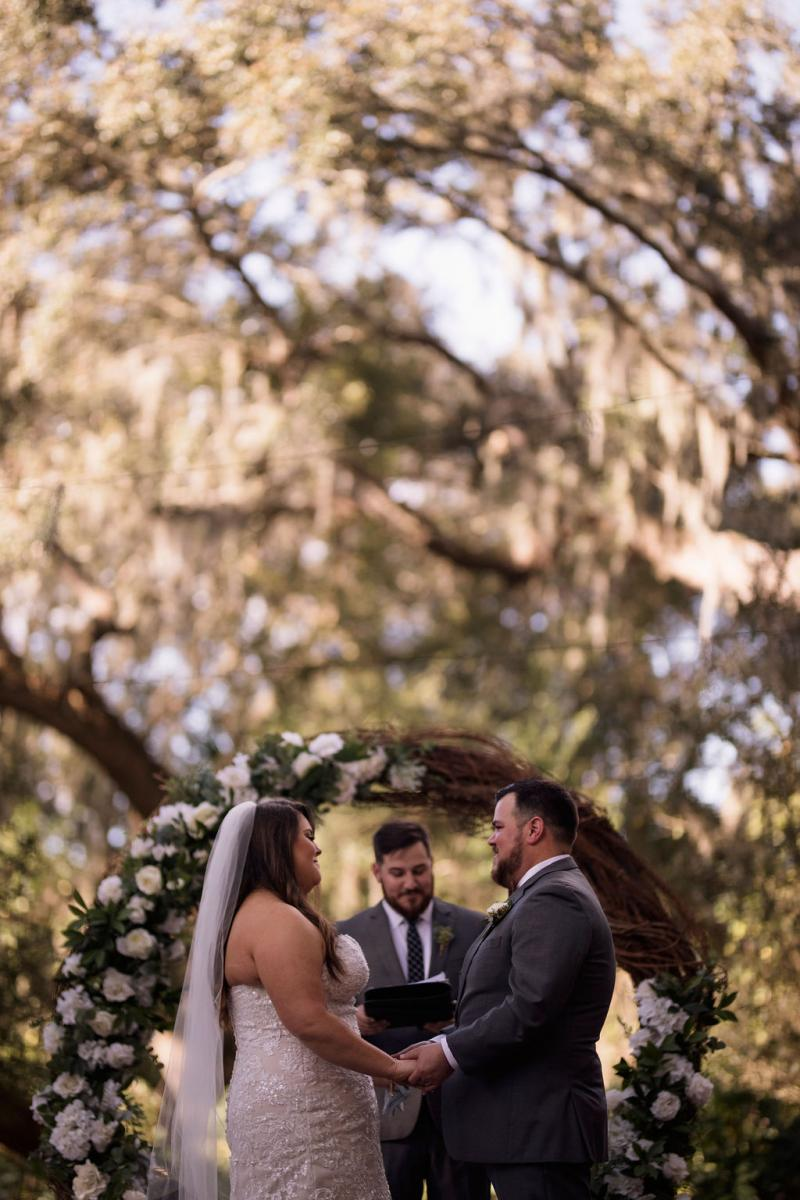 Wedding vows at the Enchanted Forest