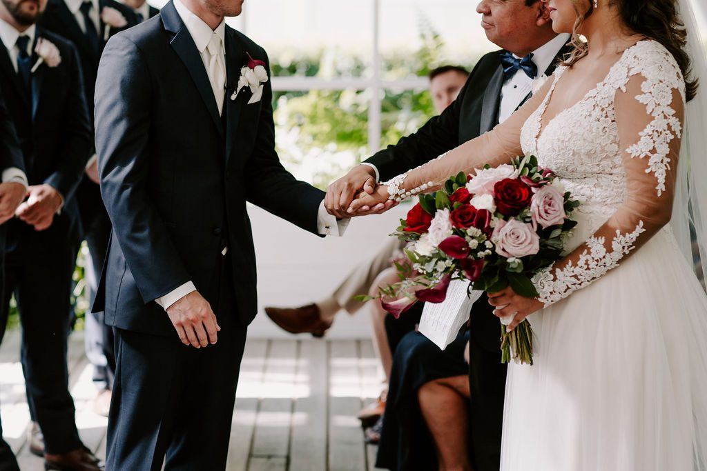 Bella and Benjamin during their ceremony