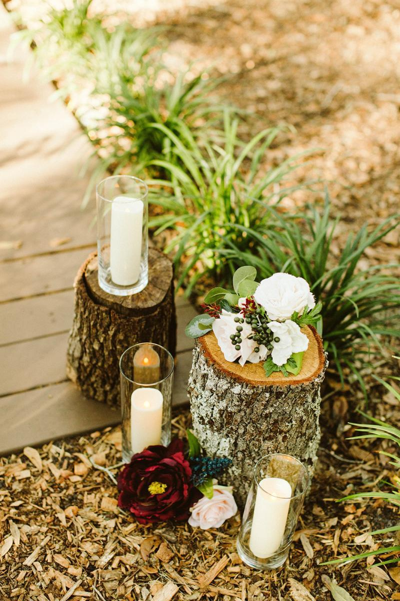 Enchanted Forest ceremony decor