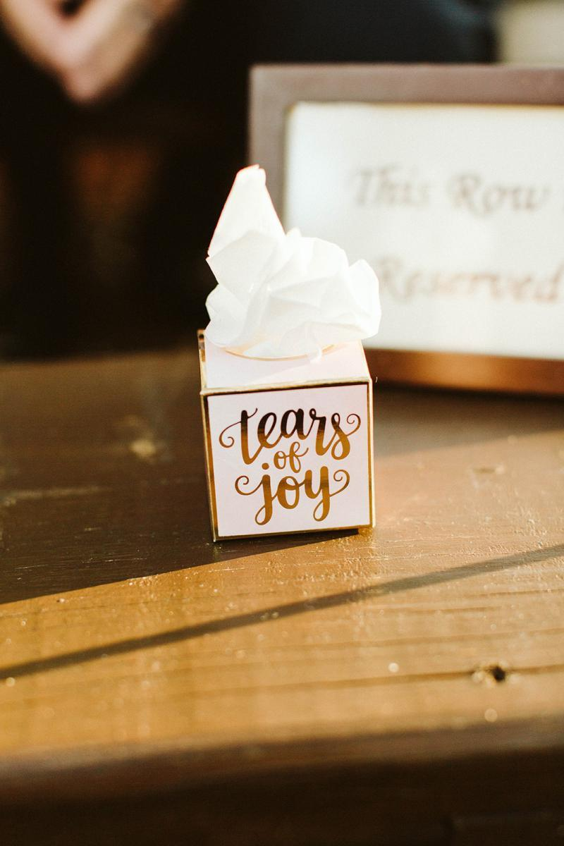 Tears of joy mini tissue boxes