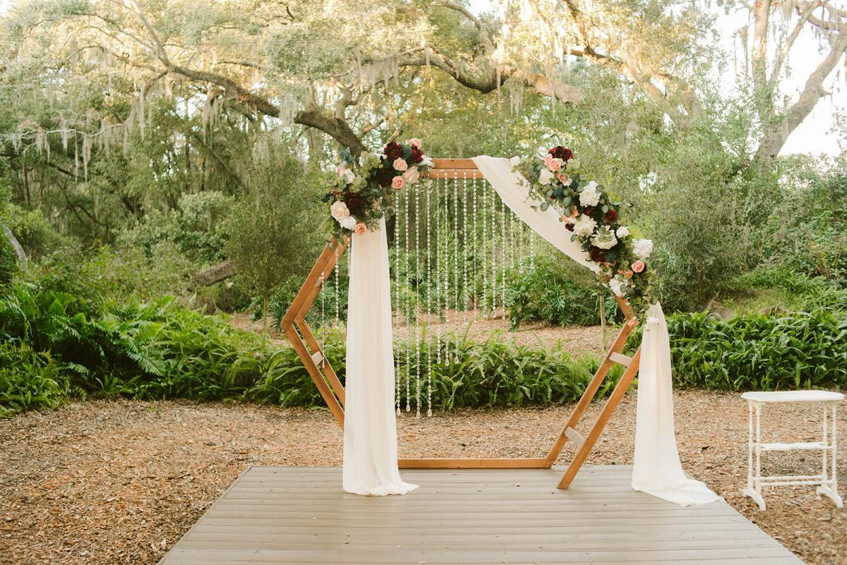 Modern romantic wedding arch