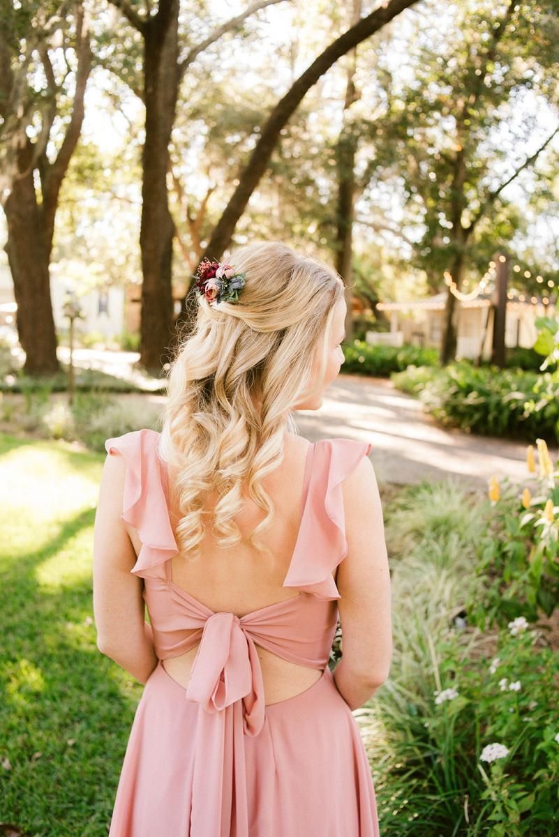 Bridesmaid wedding day hair