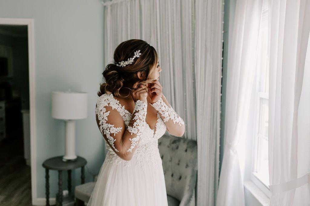 Bella getting ready for her wedding