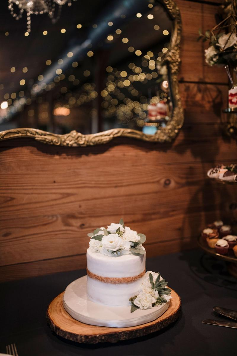 Small romantic wedding cake