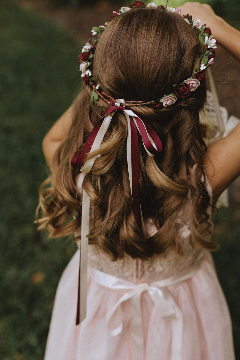 Flower crown for the flower girl
