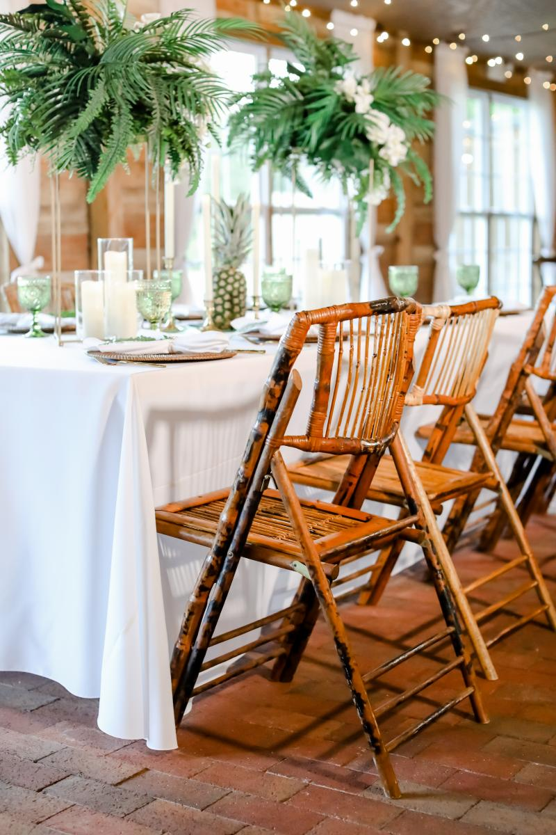 Bamboo chairs by A Chair Affair