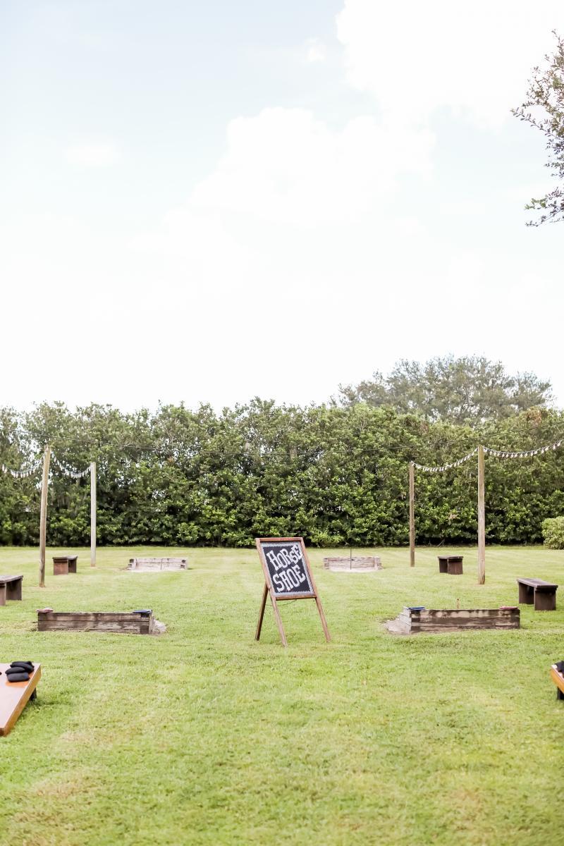 Wedding lawn games at Florida's premier wedding venue - Cross Creek Ranch wedding venue