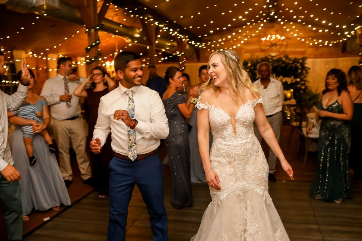 Dancing the night away at the Carriage House Stable