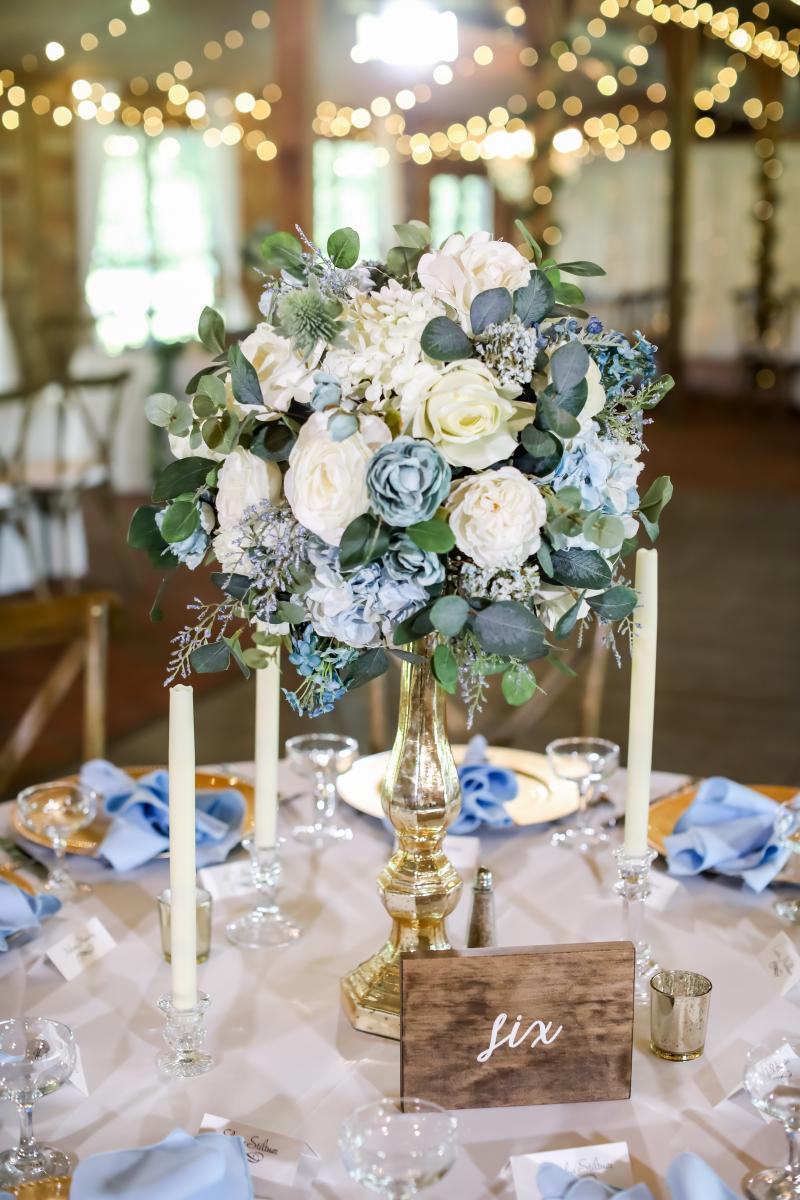 Garden inspired wedding centerpieces