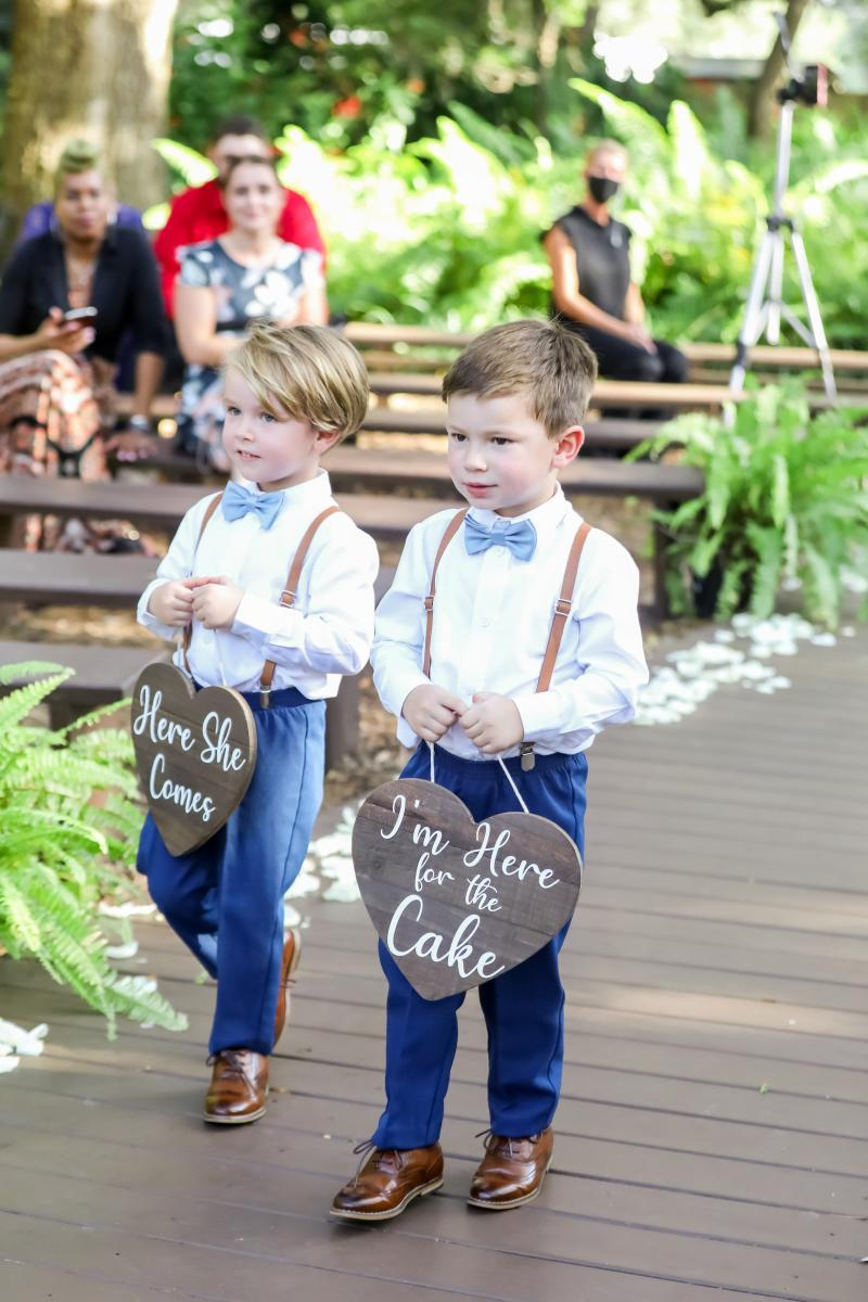 Cute ring bearers and ring bearer signs