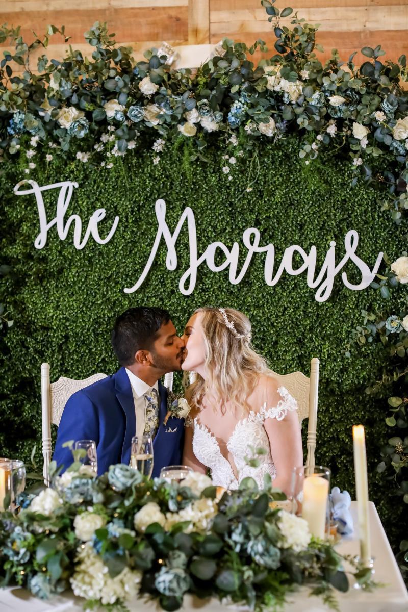 Garden inspired wedding sweetheart table