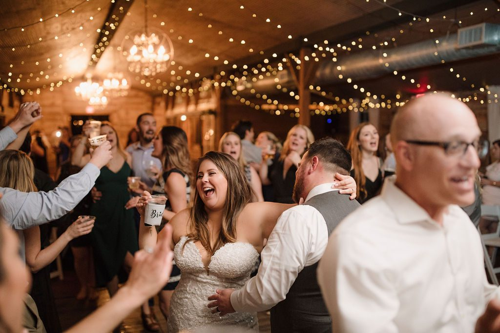 Wedding fun on the dance floor