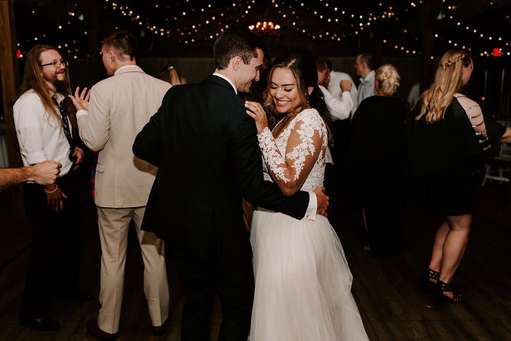 Bella and Benjamin dancing on the dance floor