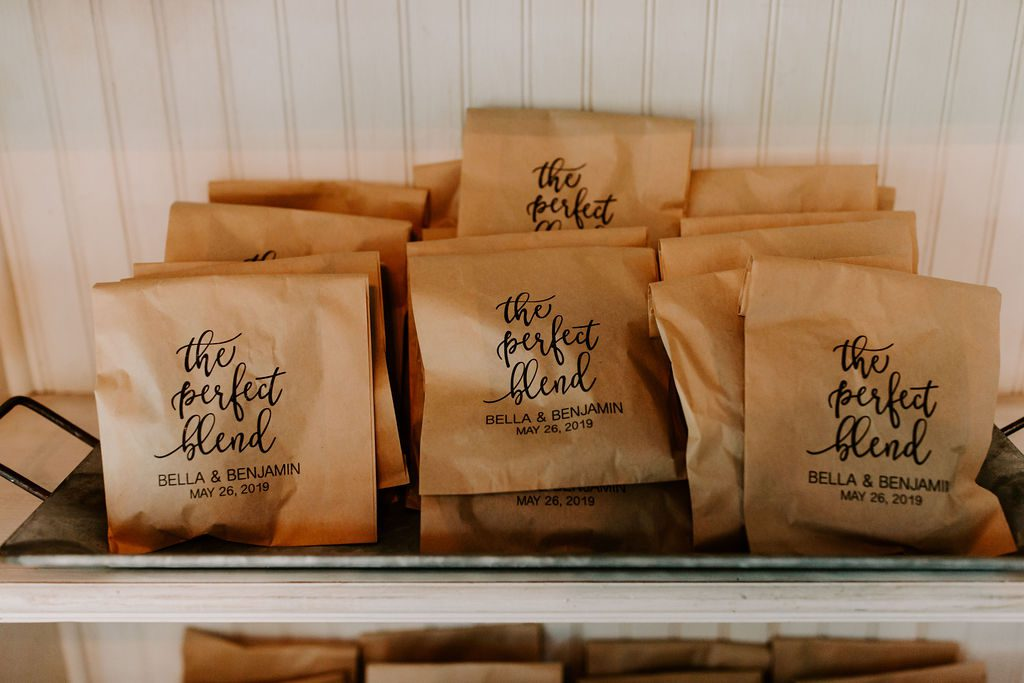 The perfect blend coffee guest favors