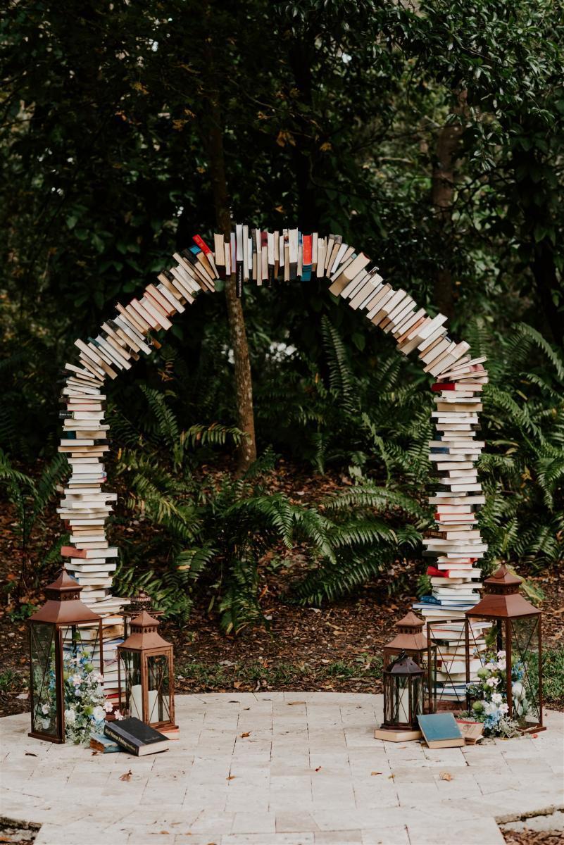 Wedding ceremony book arch