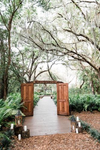 Florida forest wedding ceremony