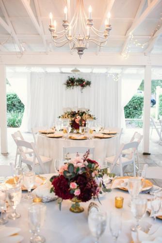 Intimate and elegant wedding reception decor